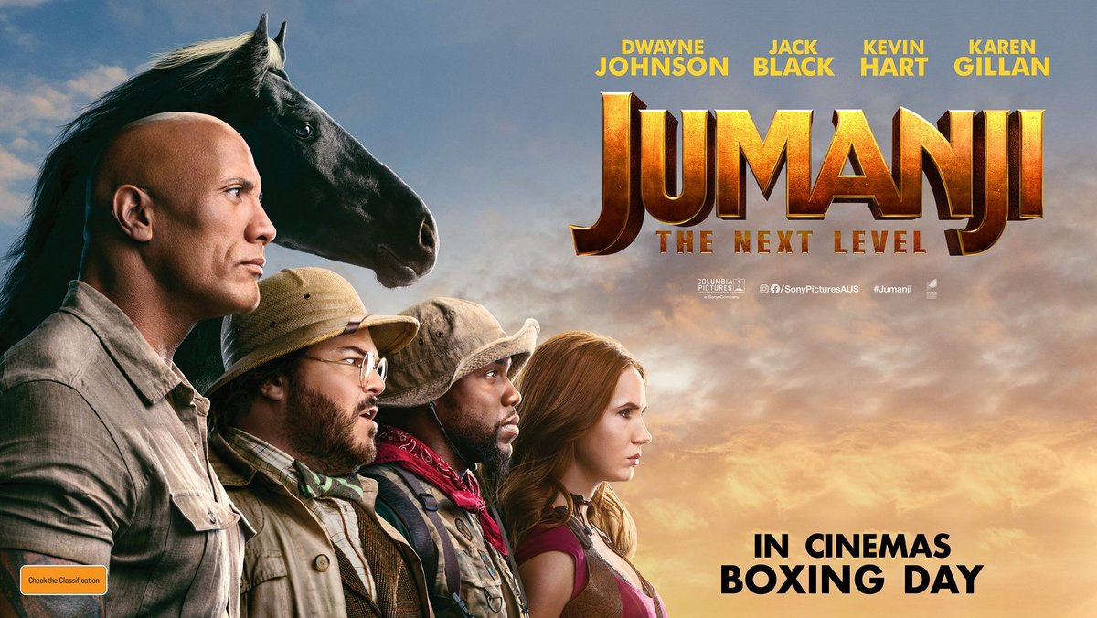 Grab a double pass to JUMANJI: THE NEXT LEVEL in cinemas Boxing Day