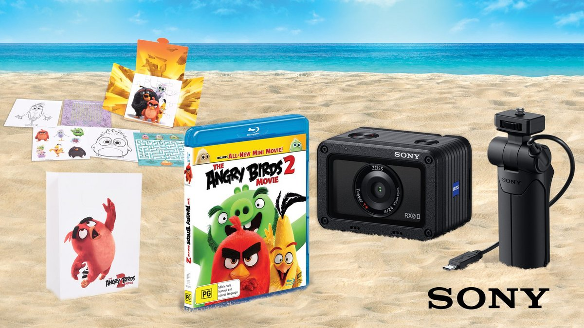 Win an Angry Birds prize pack including a Sony digital camera!