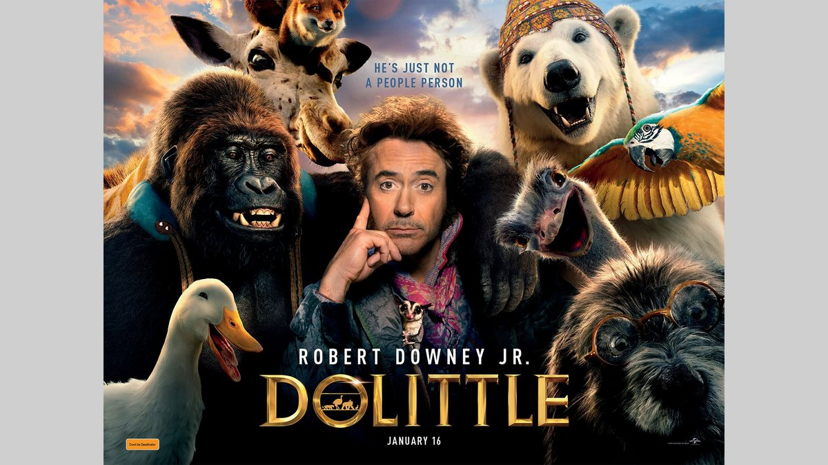Grab a double pass to DOLITTLE movie, in cinemas January 16